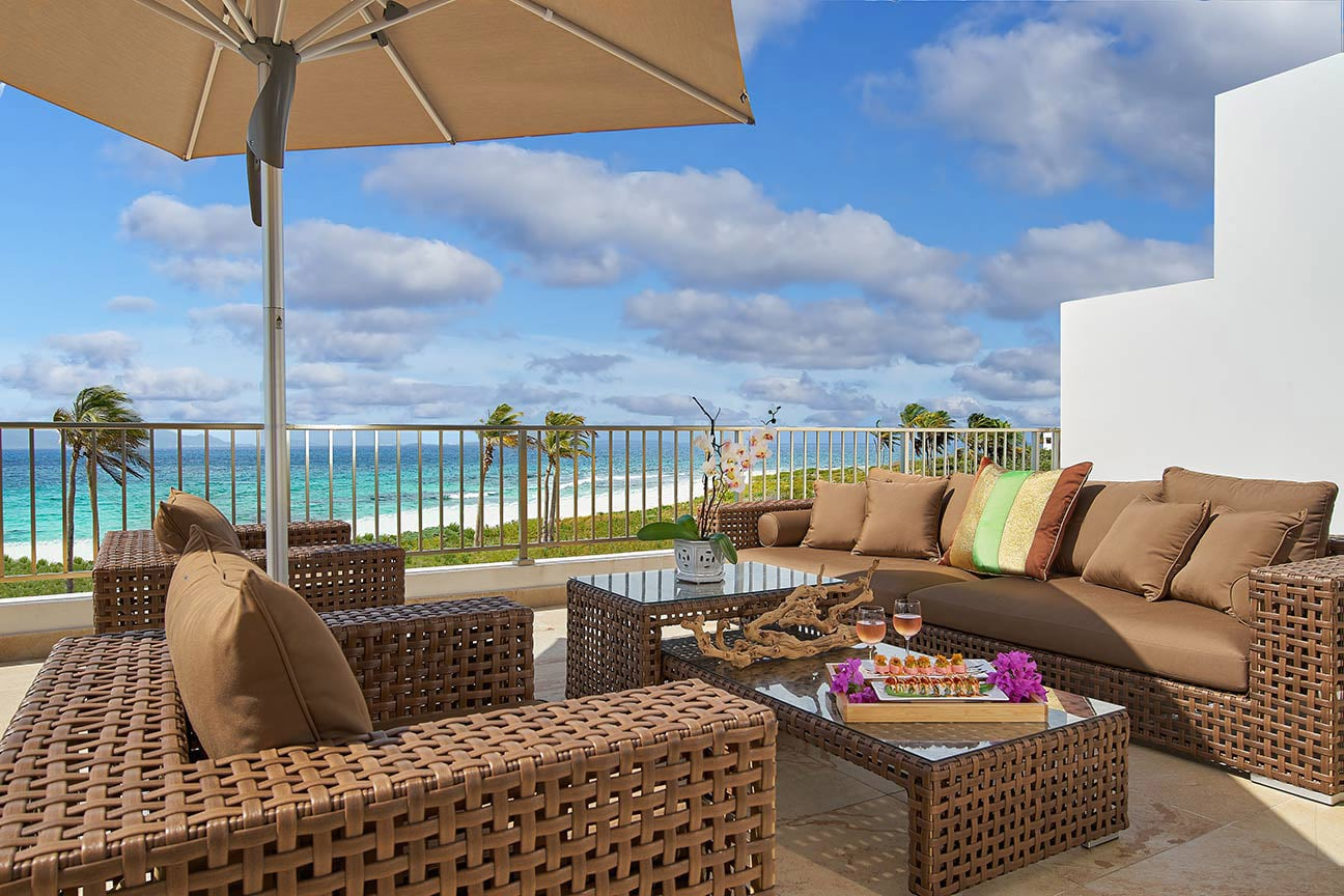Beachfront Suite Balcony at The Reef by CuisinArt, Anguilla